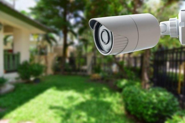 camara con leds infrarrojos para vision nocturna en exteriores