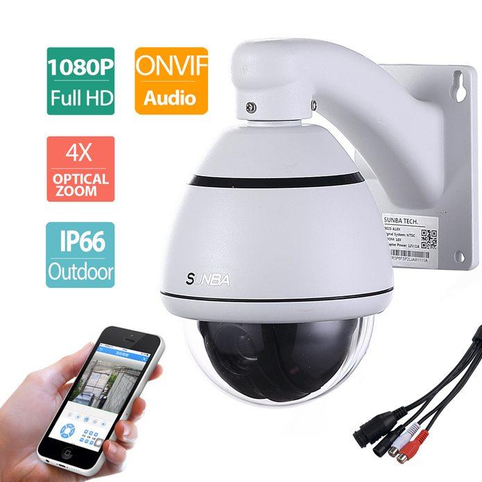 camara de seguridad para exteriores PTZ para red IP 1080p alta definicion zoom 4x